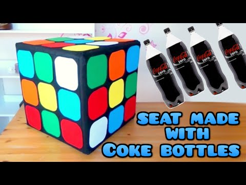 Diy Crafts Rubik Cube Seat With Plastics Coke Bottles
