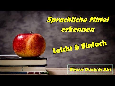 Sprachliche Mittel erkennen   Stilistische Figuren   Sprachmittel   Deutsch Epik   Deutsch Nachhilfe