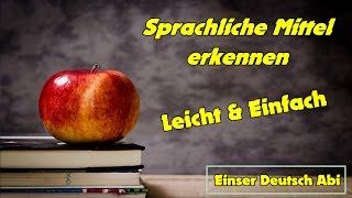 Sprachliche Mittel erkennen | Stilistische Figuren | Sprachmittel | Deutsch Epik | Deutsch Nachhilfe
