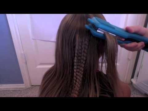 how to crimp hair youtube
