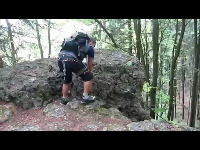 Klettersteig Fränkische Schweiz : Klettersteig norissteig bei hirschbach youtube