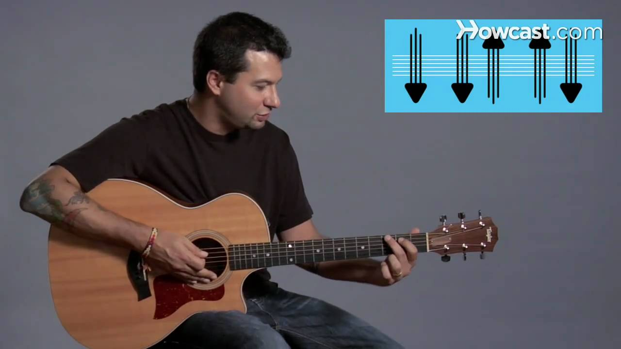 how to play strum pattern 1 guitar lessons youtube. Black Bedroom Furniture Sets. Home Design Ideas