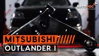 Kaip pakeisti priekinė valdymo svirtis Mitsubishi Outlander 1 PAMOKA | AUTODOC