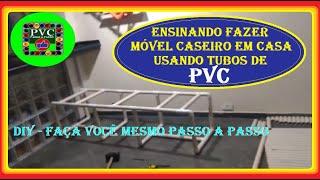 Ensinando Fazer Móvel Caseiro Em Casa Usando Tubos de PVC Diy