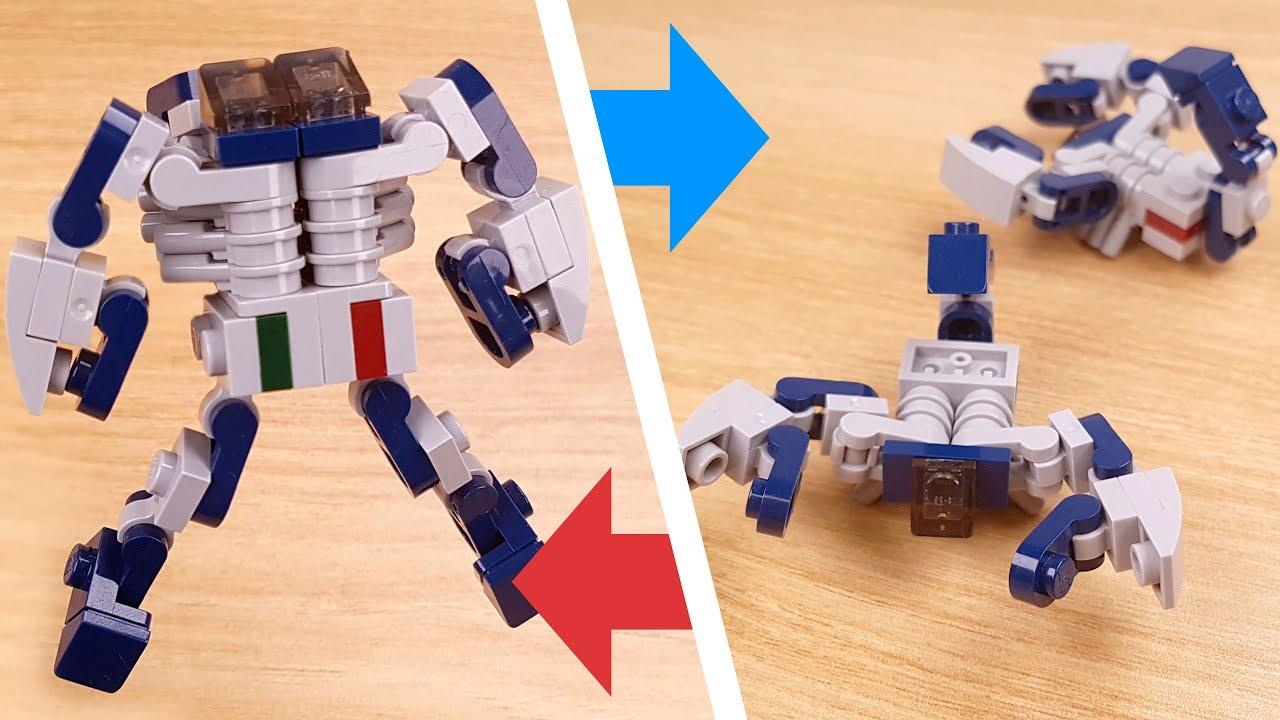 How to build mini LEGO scorpion combiner transformer robot - Scorpy