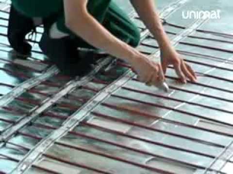 видео: Монтаж теплого пола unimat rail и boost под плитку