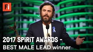 Casey Affleck wins Best Male Lead at the 2017 Film Independent Spirit Awards
