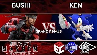 Midwest Mayhem Ultimate - Grand Finals - Bushi (Snake) Vs. KEN (Sonic)