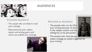 Rhetorical Audience and Purpose Seagull Presentation Video