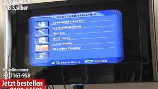 Digitaler Satreceiver Alleskönner, Megasat 3200 DVB-S,silber