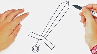 How to draw a Sword for Kids | Sword Easy Draw Tutorial