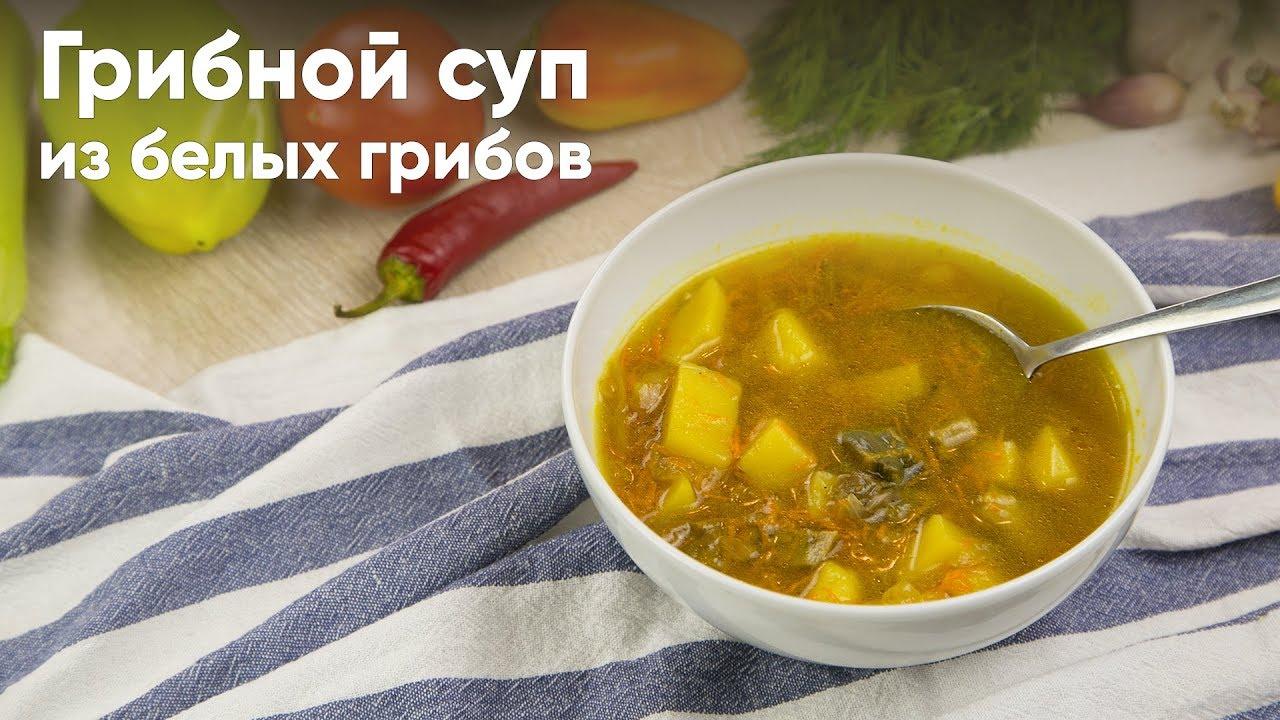 рецепт вкусного грибного супа из белых грибов
