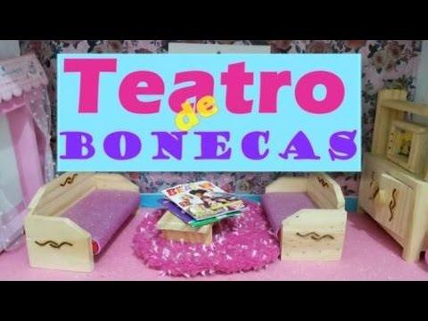 Teatro de Boneca - Organizando a casa da Barbie - por Isabela