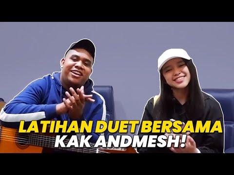 ANNETH DAILY VLOG #1 - BTS COVER WITH KAK ANDMESH - HANYA RINDU