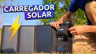 Carregando CELULAR com a ENERGIA do SOL!