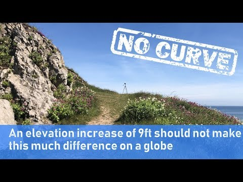 Flat earth proof: 9ft should not make this much difference on a globe thumbnail