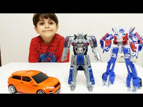 Transformers optimus prime robot açtık | Oyuncak videoları