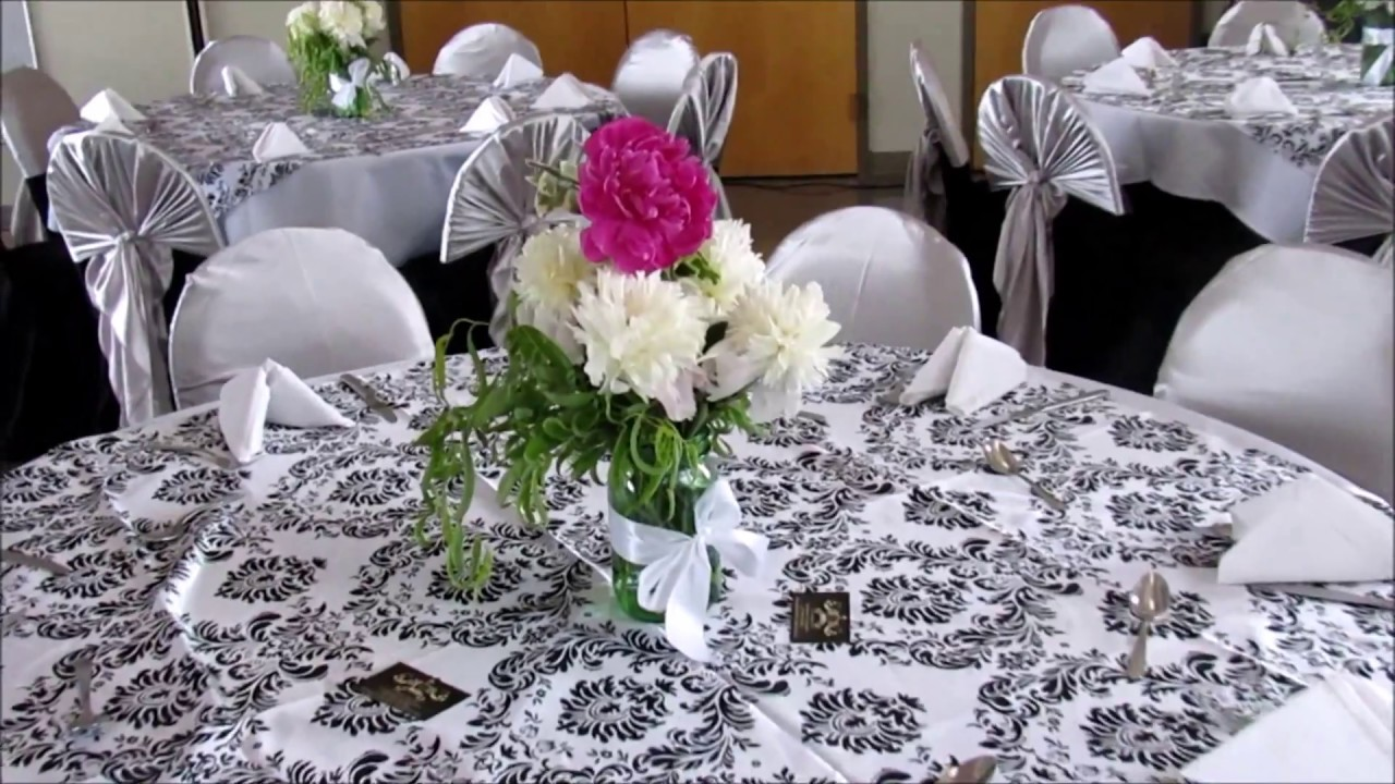 Faos events decoracion blanco negro y plata youtube - Decoracion salon gris y blanco ...