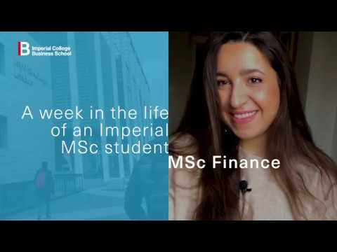 A week in the life of an MSc Finance student