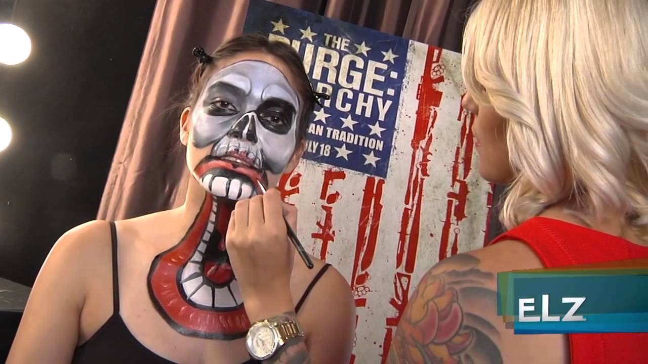 the purge anarchy make up tutorial youtube - Purge Anarchy Masks For Halloween