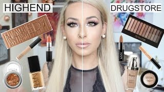 Half Face High End VS Half Face Drugstore DUPES | DramaticMAC