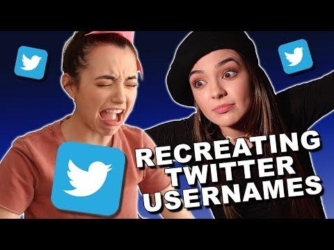 Recreating Twitter Usernames - Merrell Twins