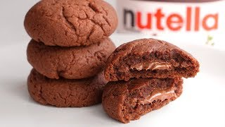 STUFFED NUTELLA COOKIES, with 3 INGREDIENTS!