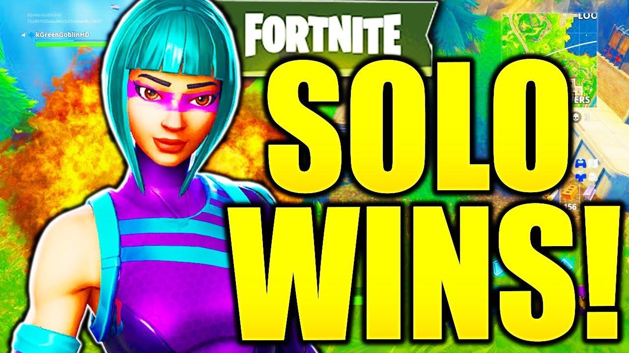 SO ERHALTEN SIE 10 KILL SOLO WINS EASY! Wie man bei Fortnite besser wird Wie man Solo-Tipps und Tricks gewinnt! + video