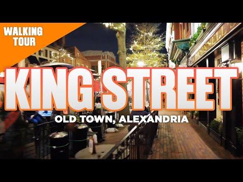 King Street  in Old Town Alexandria Virginia Walking Tour