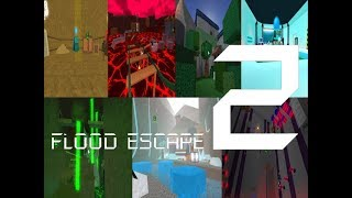 Roblox Flood Escape 2 (Test Map) - Multiplayer Compilation 6