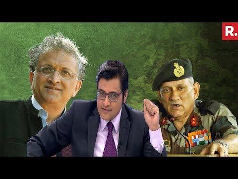 Ramachandra Guha's Personal Attack On Army Chief Bipin Rawat | The Debate With Arnab Goswami