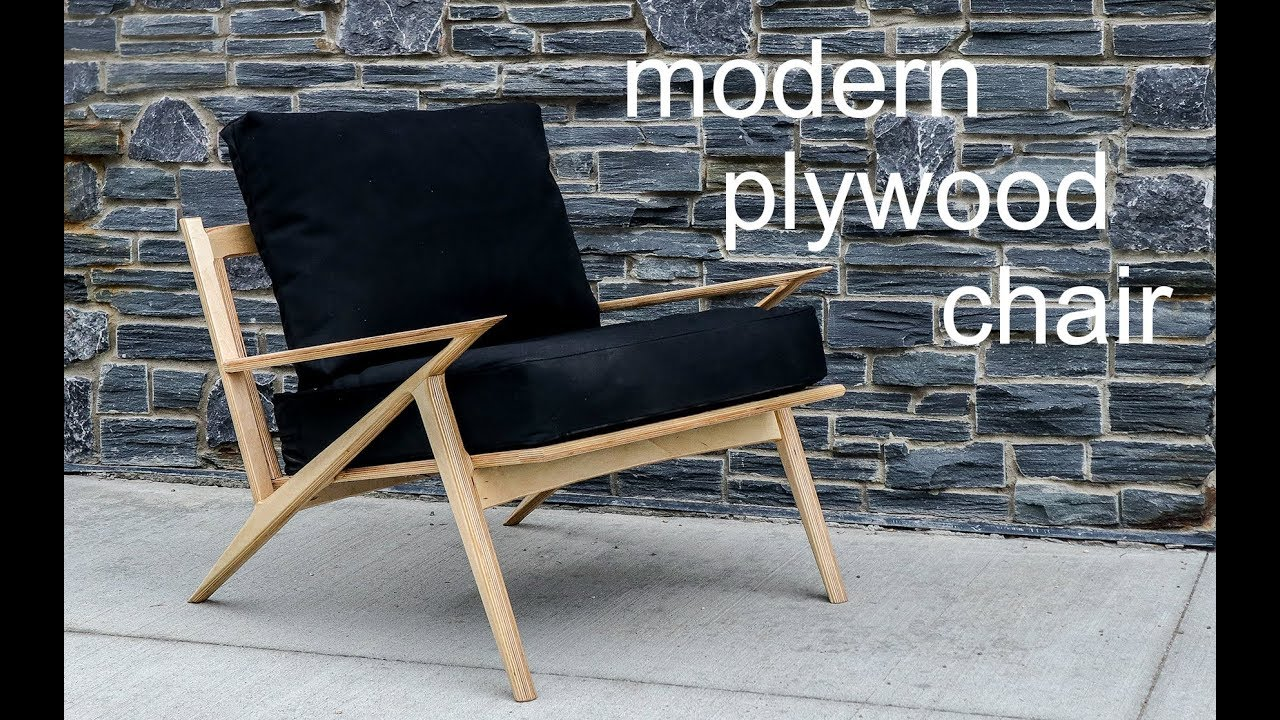 Mid Century Modern Sculpted Plywood Chair// Rockler Plywood Challenge