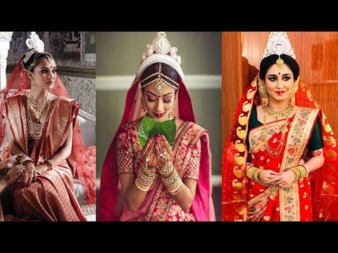 Traditional Bengali Bridal Makeup Look ,Hairstyle,Saree,And Jewelry ||Bengali Bridal Look