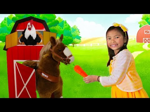 Wendy Pretend Play As a FARMER Taking Care of Animals & Farm