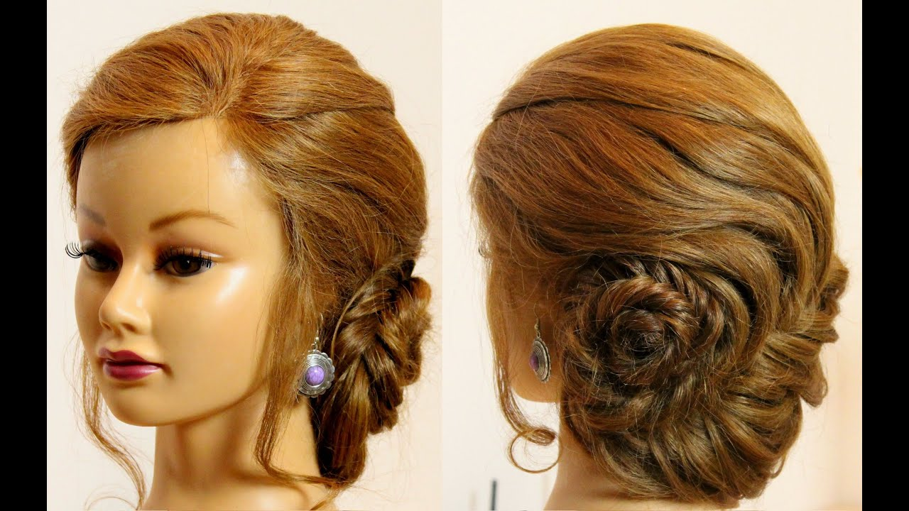 Easy Hairstyles Everyday Updo For Long Hair With Braid Youtube