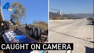 San Bernardino Fire Department Pulls Off Daring Rescue | NBCLA