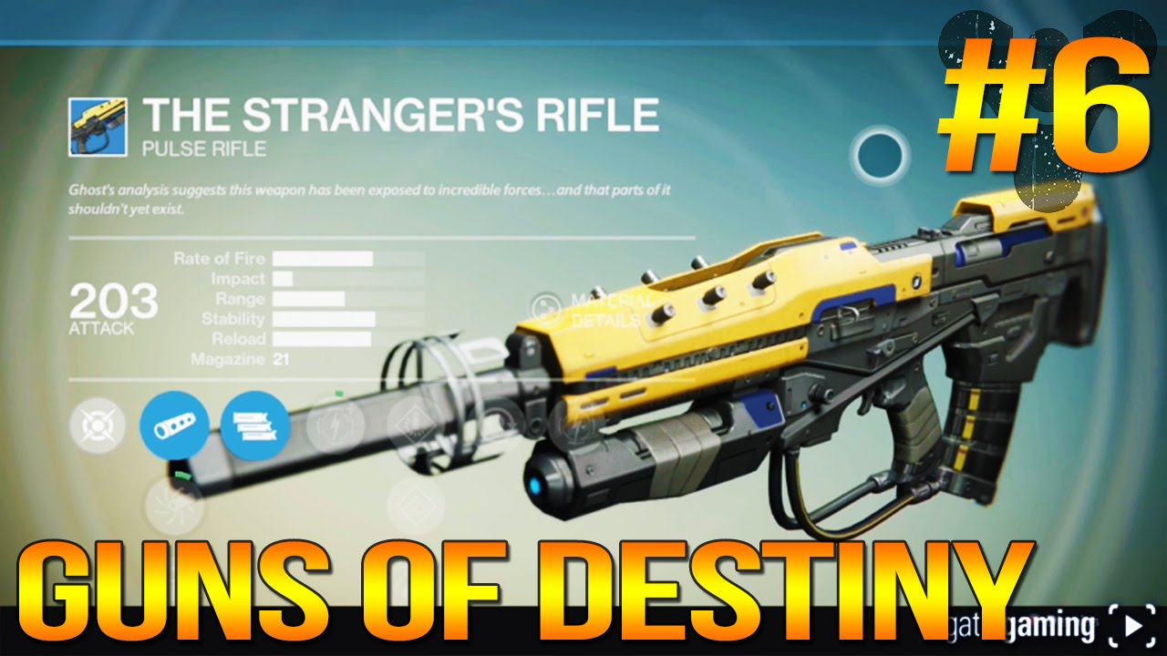guns of destiny 6 the strangers rifle pulse rifle character