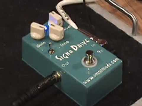CMATMODS Signa Drive Guitar Effects Pedal Demo With King Bee Guitars Tele & Fender Blues Jr Amp