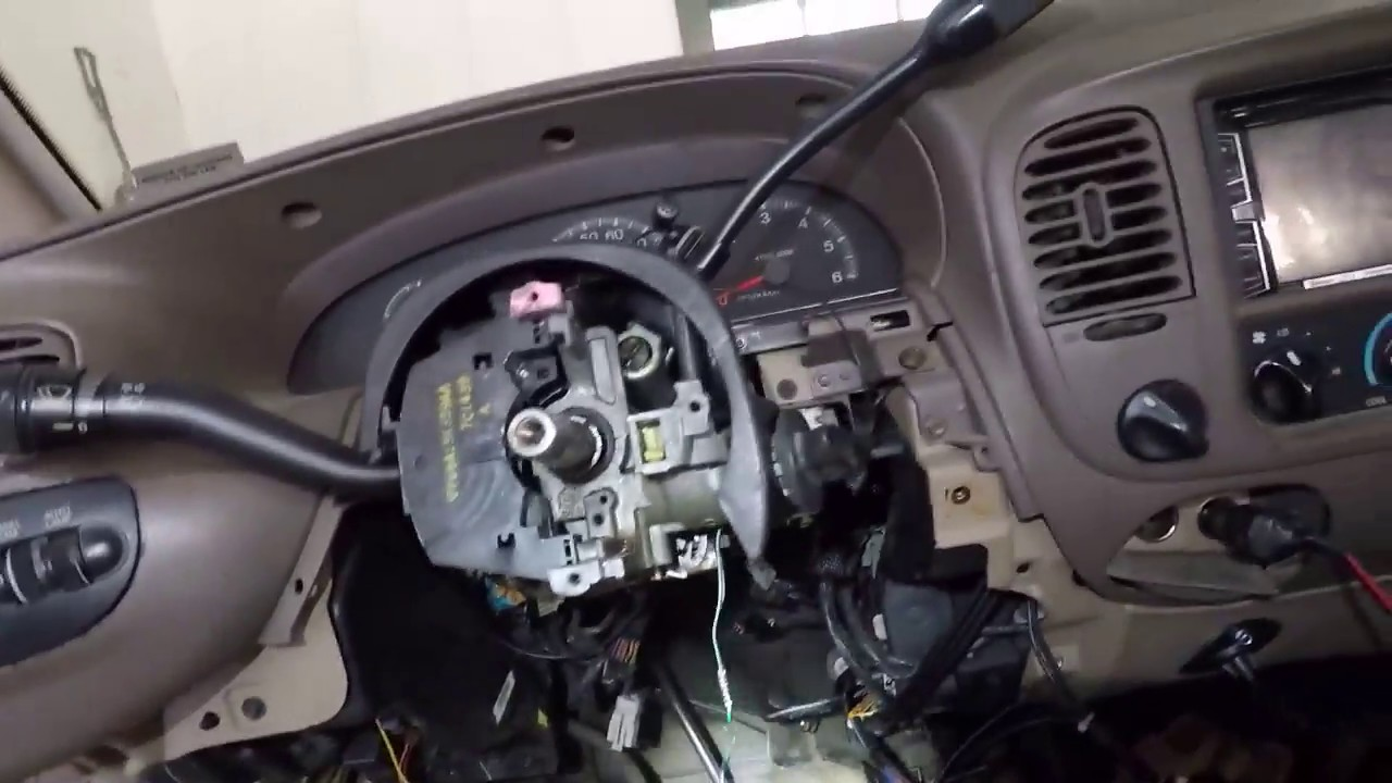 How Can I Get A Diagram Of Streeing Collum For A94 F350 1997 2003 F150 Expedition Steering Column Removal And Replace Youtube