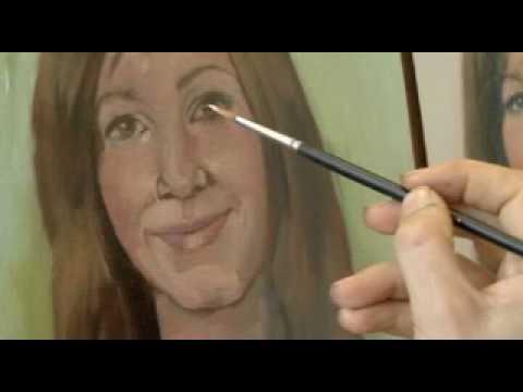 Canson pr sente r aliser un portrait l 39 huile par anne karin court pa - Comment nettoyer des pinceaux de peinture a l huile ...