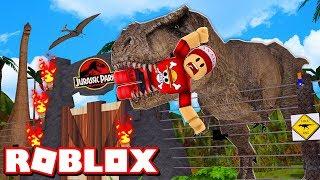 BUILDING MY DINOSAUR PARK at ROBLOX → Jurassic Park Tycoon 🎮