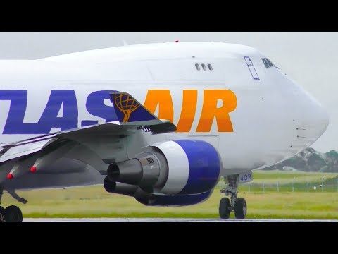 EXTREMELY CLOSE-UP Landings & Takeoffs | MotoGP Charter Flights  ● Avalon Airport Plane Spotting