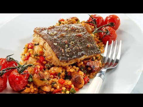recette-skrei-aux-tomates-tapas-et-perles-de-couscous-aux-légumes---colruyt