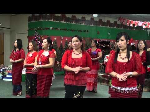 Lahu song: Women's xmas dance 12-25-2012