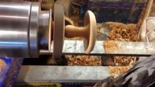 Wood Turning Using Off Cuts,yew Mushroom Using