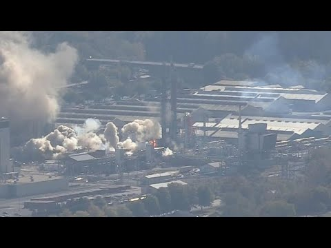 Chemical company explosion caught on camera