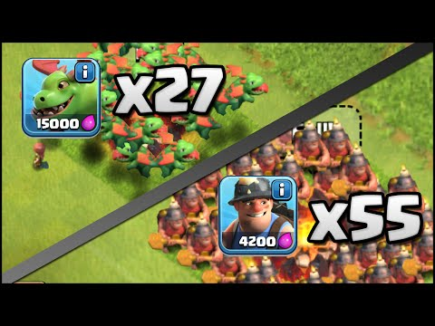 Clash of Clans 55 Miner & 27 Baby Dragon Attacks vs Max TH11! (Mass Attacks with New Troops!)