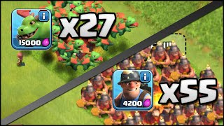 Clash of Clans 55 Miner u0026 27 Baby Dragon Attacks vs Max TH11! (Mass Attacks with New Troops!)