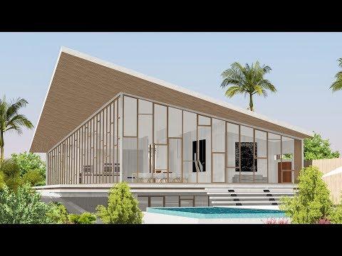 Sketchup Speed Build - Modern Seaview villa