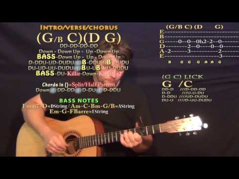 Sleep Without You (Brett Young) Guitar Lesson Chord Chart - Capo 3rd